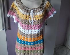 Blusa Colorida em Croch�