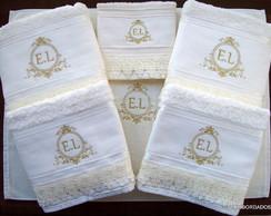 Jogo de toalhas Monograma (Casamento)