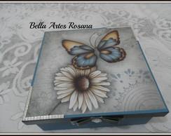 Caixa Flor com Borboleta Vendida