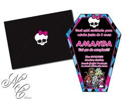 Convite Monster High- Recorte Especial