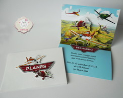 Convite Avi�es Disney Pop Up ( Planes)