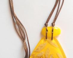 Bioj�ia - Colar Dan�as (amarelo)