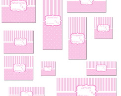 Kit Toillet Envelopes E R�tulos- Rosa