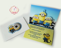 CONVITE MINIONS POP UP