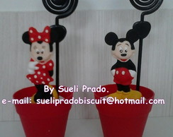 Minnie e Mickey no vasinho.