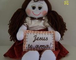 Boneca de pano Jesus te ama