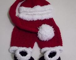 Gorro,shorts e botinhas Papai Noel