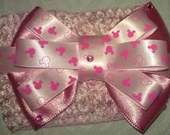 Faixa Rosa da Minnie(rosa claro)