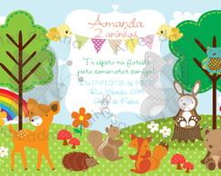 Convite Festa na Floresta