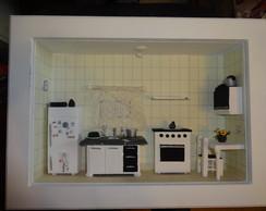 Quadro miniatura de ambientes cozinha