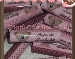Baton ursa marron e rosa