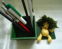 Porta caneta le�o