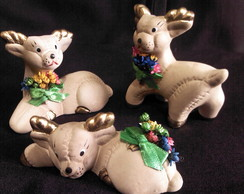 Trio de rena para decorada de Natal