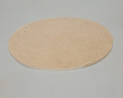 BASE OVAL DE MDF 6 MM COM 16 X 11 CM