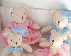 Kit Ursos Decora��o Para Casal De Gem�os