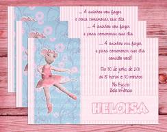 Convite Angelina Ballerina