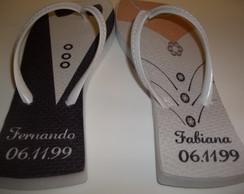 Rasteirinhas Personalizada p/ Casamento