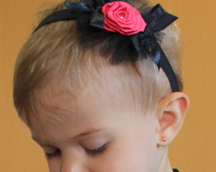 00211 - Headband Black and Pink