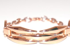 PULSEIRA DE METAL ROSE GOLD COM