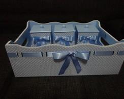 Kit Higiene Azul claro com po� branco