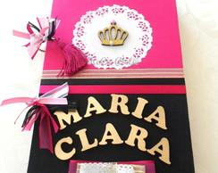 Livro De Assinaturas - Pink e preto