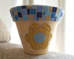 Vaso de cer�mica com Mosaico