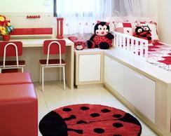 """tapete decorativo """"joaninha"""" 1 metro!"""