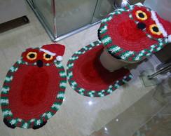 Jogo de banheiro - Coruja natal Bnh 100