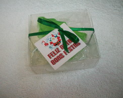 Caixa de acetato com �rvore de Natal