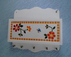 Porta Carta E Chaves Em Mosaico