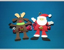 Porta Bombom e Pingente de Natal