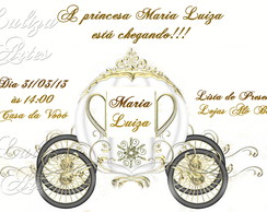 Arte Digital Convite Ch� de Beb� Princes