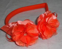 Tiaras Florzinhas laranja