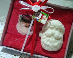 Kit Papai Noel - Toalha e Sabonete