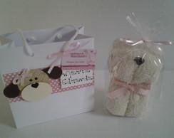 Cachorrinho de toalha com sacolinha