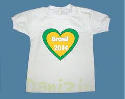 T-Shirt Beb� e Infantil BRASIL NO S2