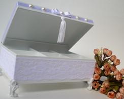 Caixa Toalete Renda Casamento