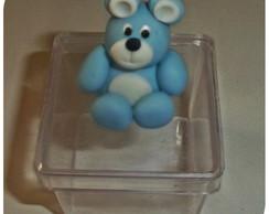 Caixinha Acr�lico c/ Biscuit 3D do Urso