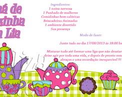 Arte Digital Convite Ch� de Cozinha