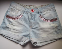 Short Delav� bordado