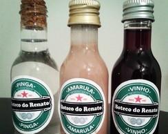 Garrafinhas  Personalizadas Sem Bebidas.