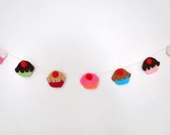 Varal Cupcakes de Croch� Frete Gr�tis