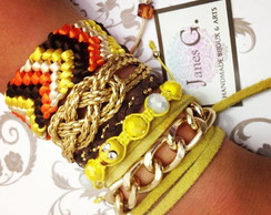Mix Ethnic Yellow Earth - 5 pe�as.
