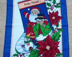 Pano de Prato Natal Azul
