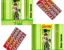 R�tulo Chocolate Ben10  6,5x6,5 Cm