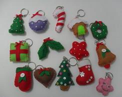 Chaveiros de feltro - Natal
