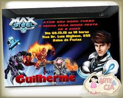 Convite Personalizado  Max Steel