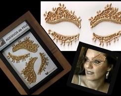 Mascara Dourada Luxo