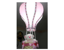 Lustre Infantil Rosa com Branco