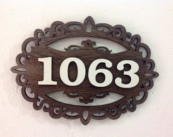 Placa Numera��o Residencial